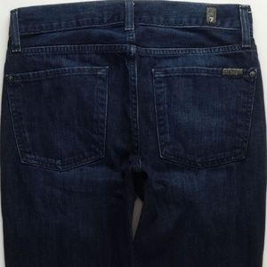 7 For All Mankind Slimmy Crop Jeans Women 29 A448J